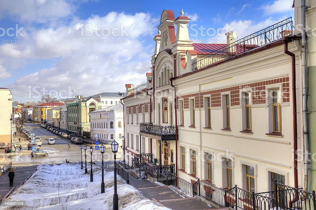 Street in the city of Kazan stock photo
