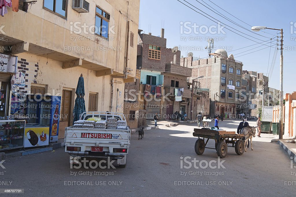 Street in the city of Luxor. royalty-free stock photo