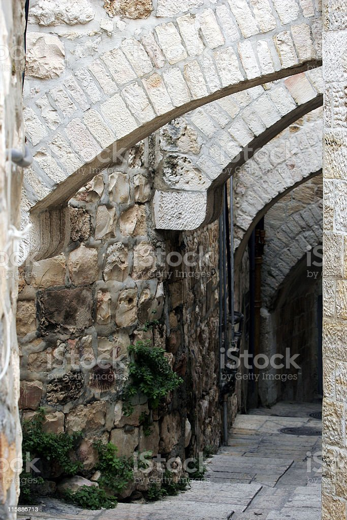 Street in the old city of Jerusalem royalty-free stock photo