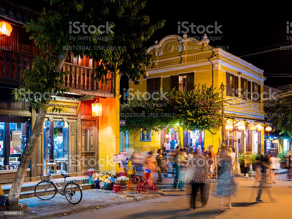 Street in the Old Town in Hoi An, Vietnam stock photo