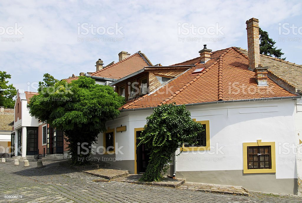 Street In The Szentendre Town stock photo