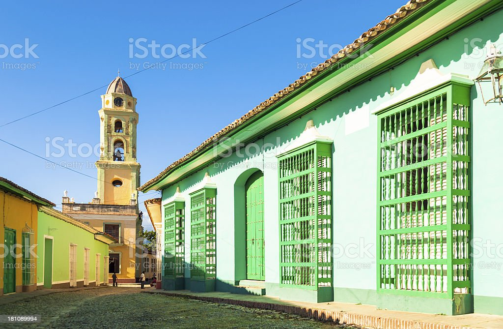 Street in Trinidad (Cuba) stock photo