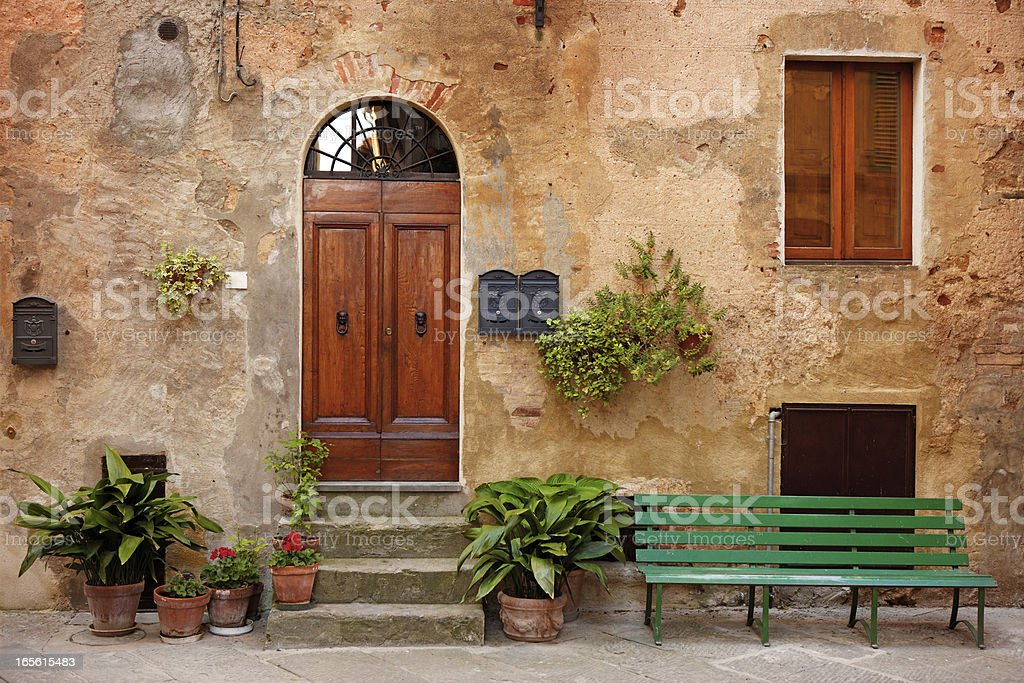 Street in Tuscany royalty-free stock photo