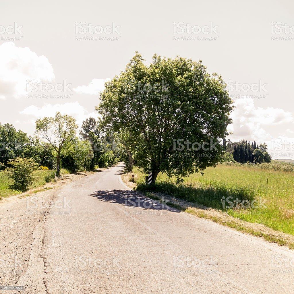 Street in Umbria Italy stock photo
