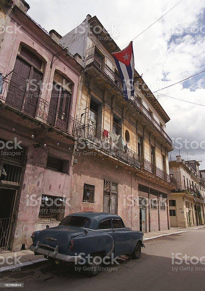 Street in Vedado, Havana royalty-free stock photo