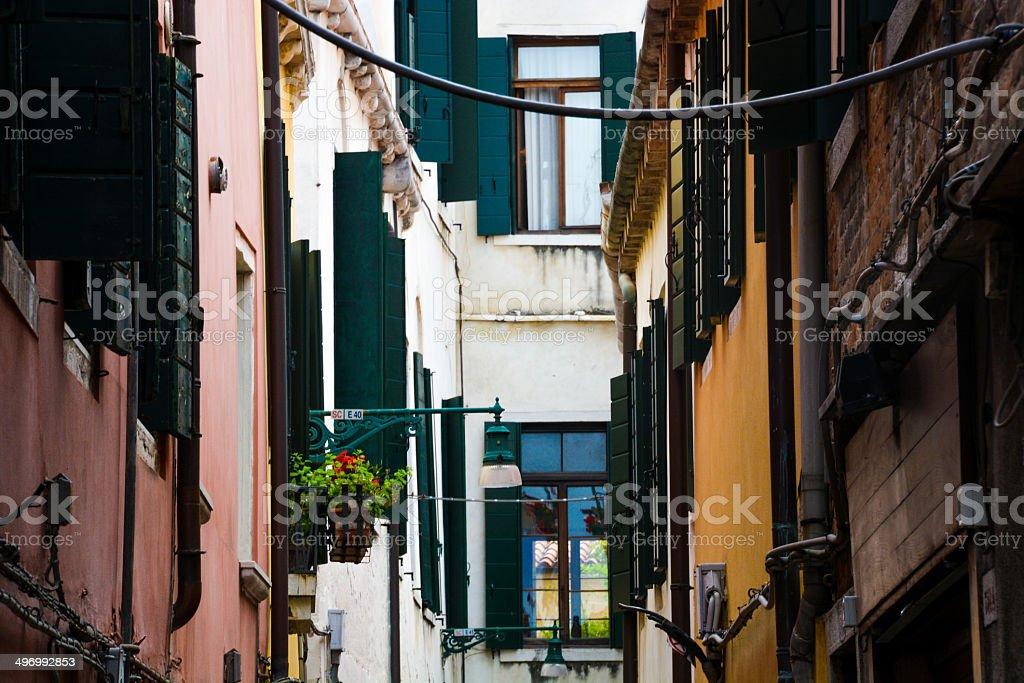 Straße in Venedig Lizenzfreies stock-foto
