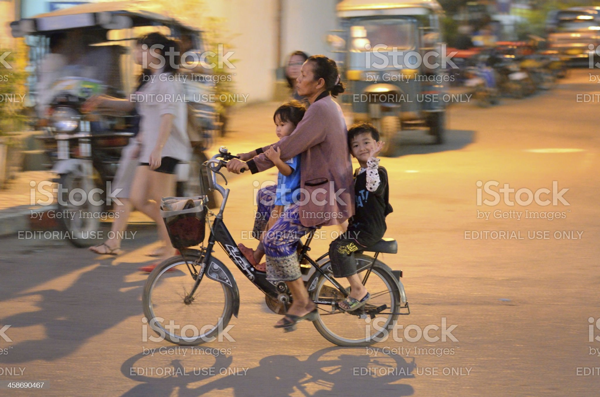 Street in Vientiane, Laos royalty-free stock photo