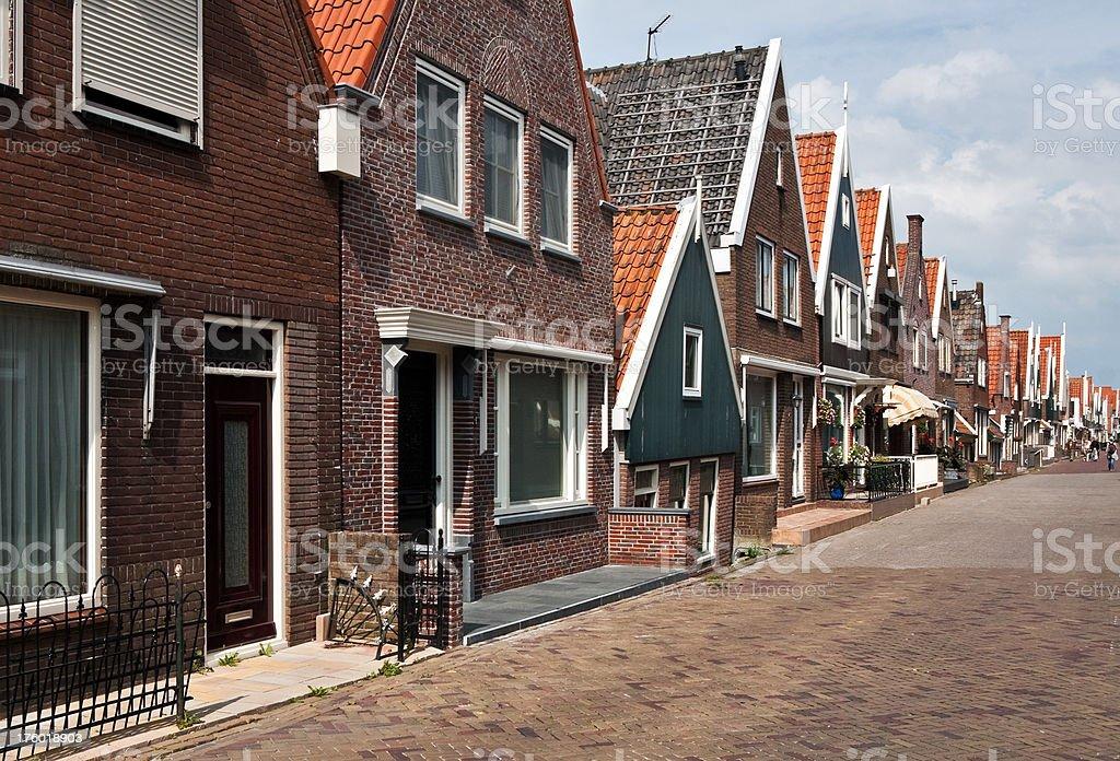 Street in Volendam royalty-free stock photo
