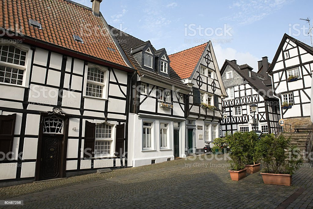 Street in werden stock photo