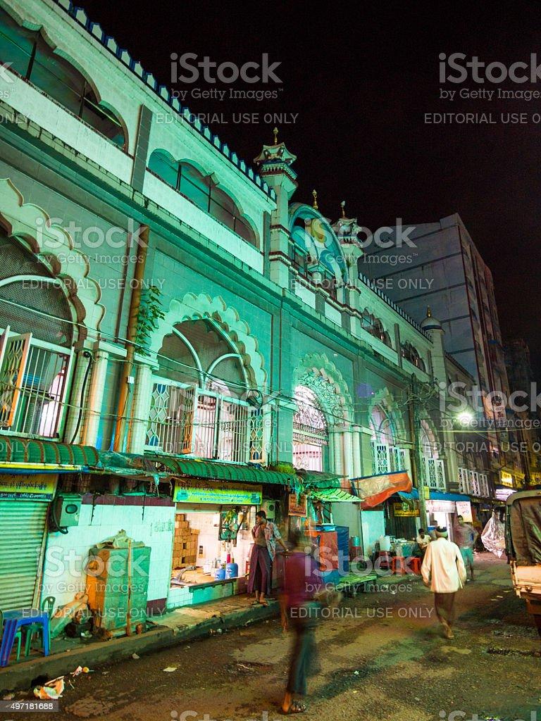 Street in Yangon, Myanmar stock photo