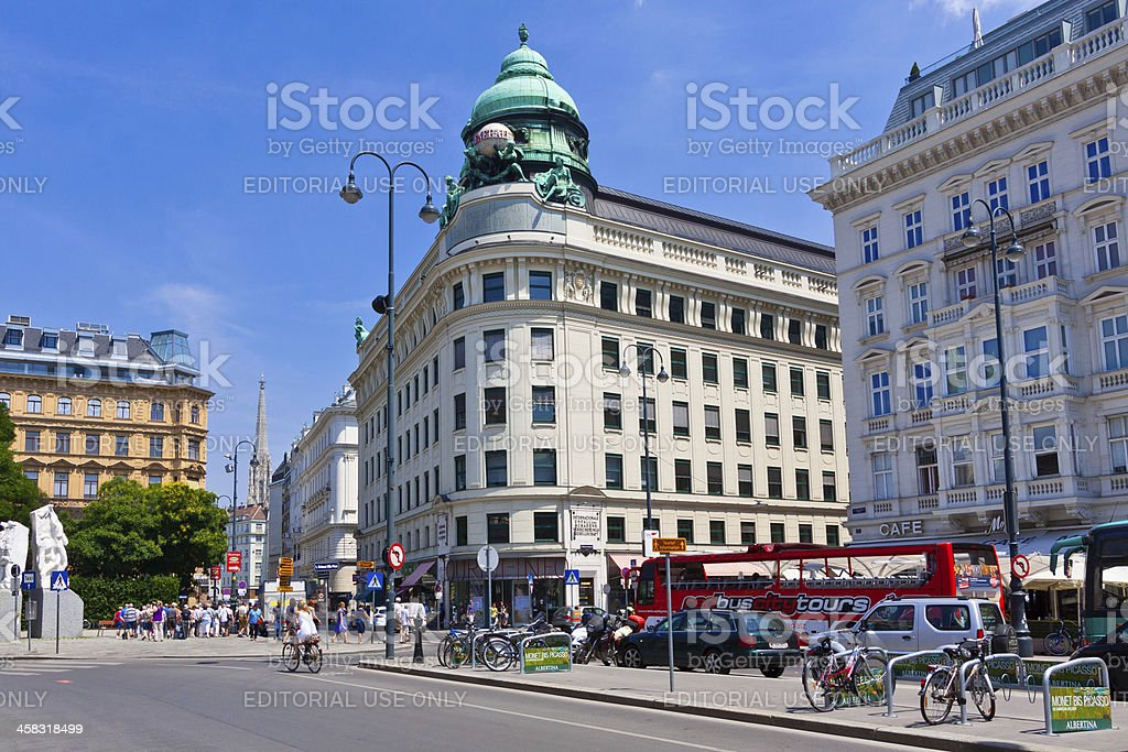 Street intersection in Innere Stadt, Vienna. royalty-free stock photo