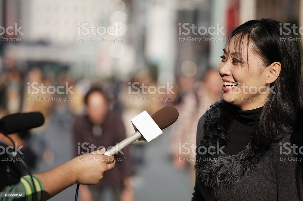 Street Interview royalty-free stock photo