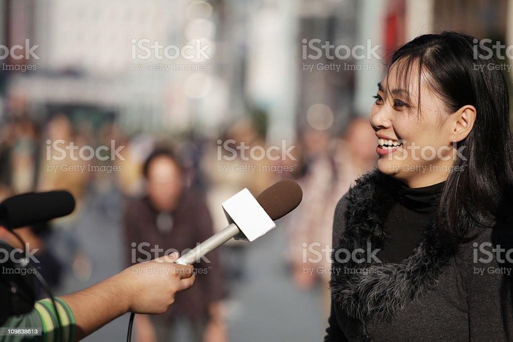 Street Interview stock photo