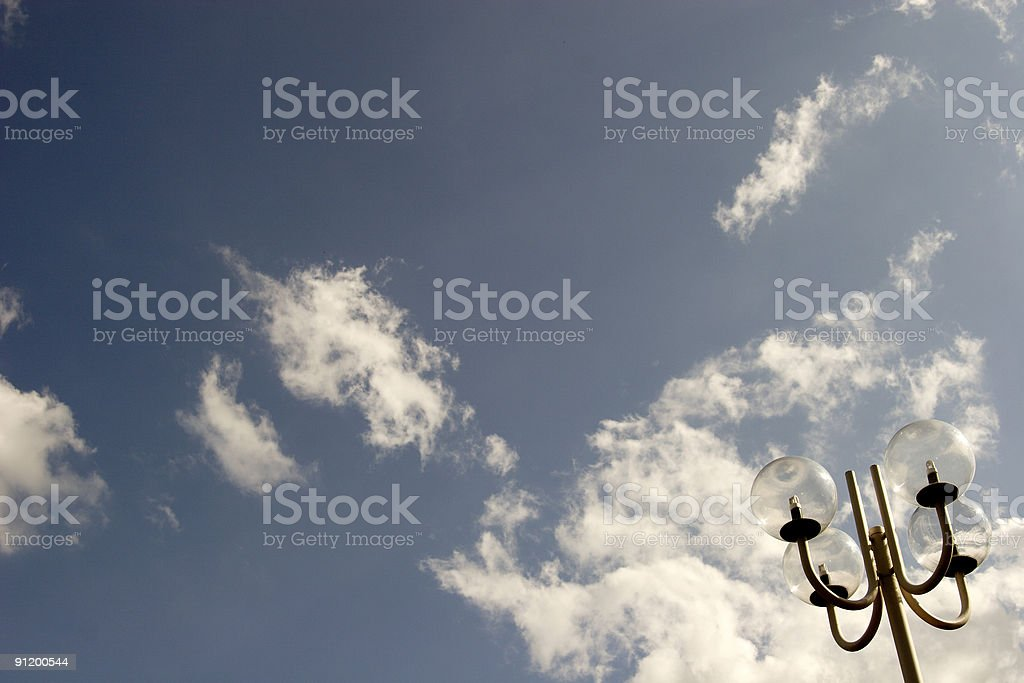 street lamp and sky royalty-free stock photo