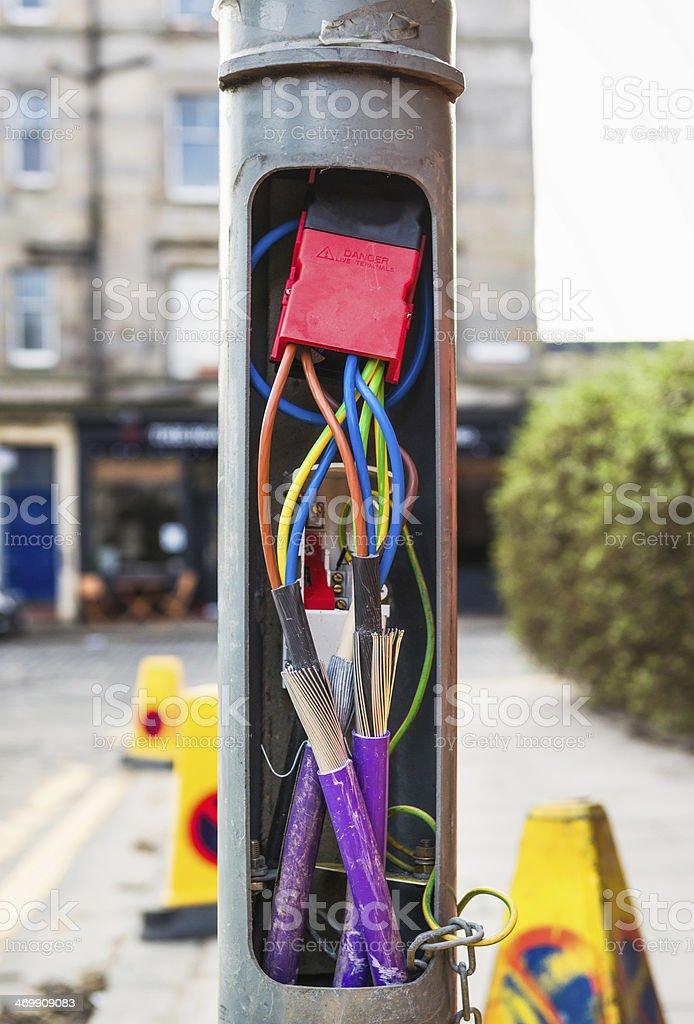 Street lamp electronics royalty-free stock photo