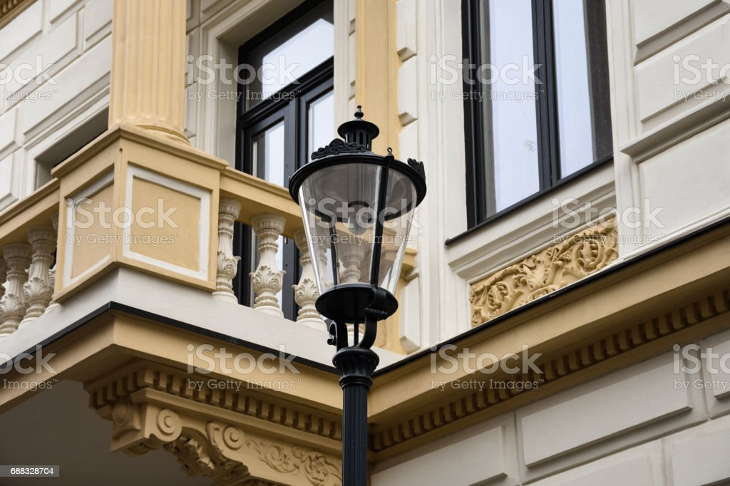 Street Lamp  in Bucharest stock photo