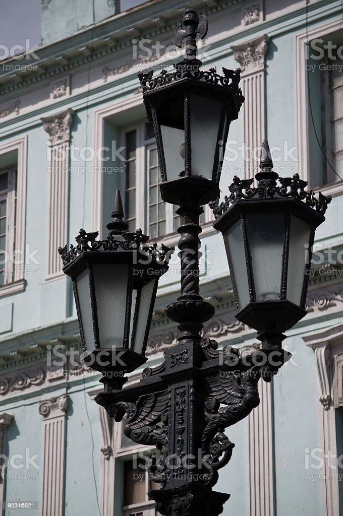 Street lamp in Havana stock photo