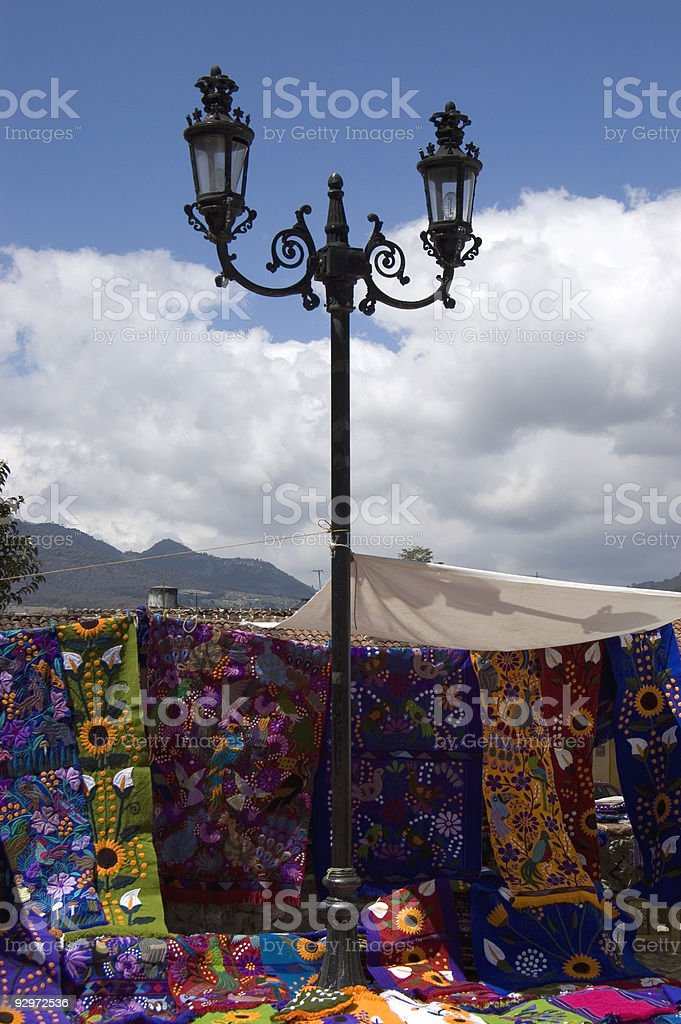 Street Lamp in Mexican Market royalty-free stock photo