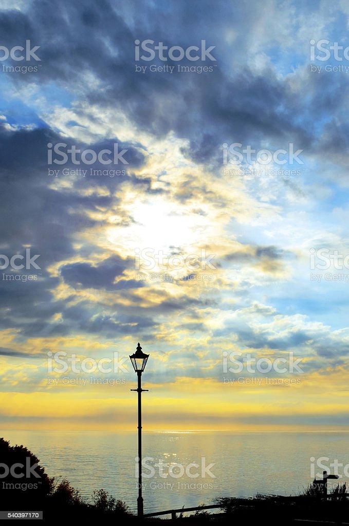 Street Lamp of Robin Hoods Bay stock photo