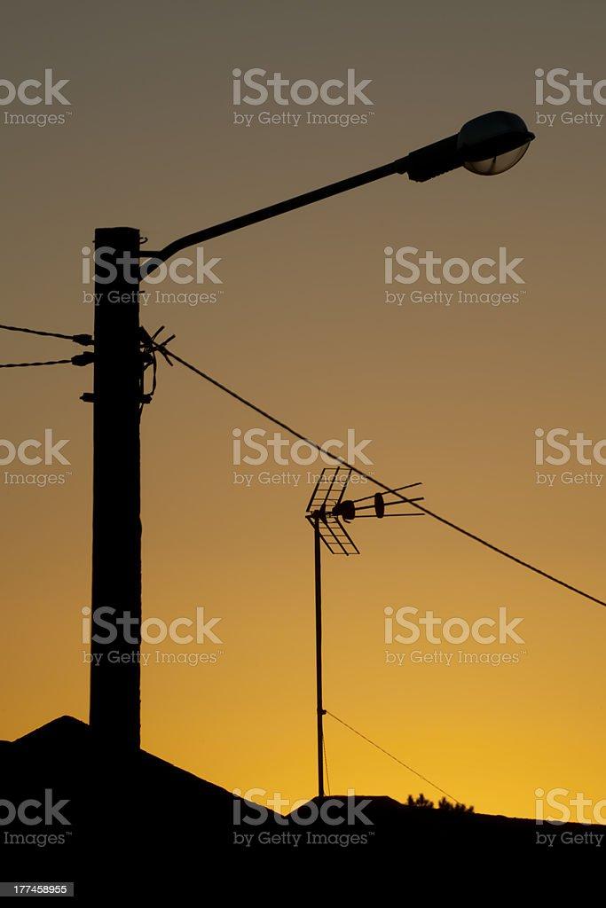 Street lamp Sunset royalty-free stock photo