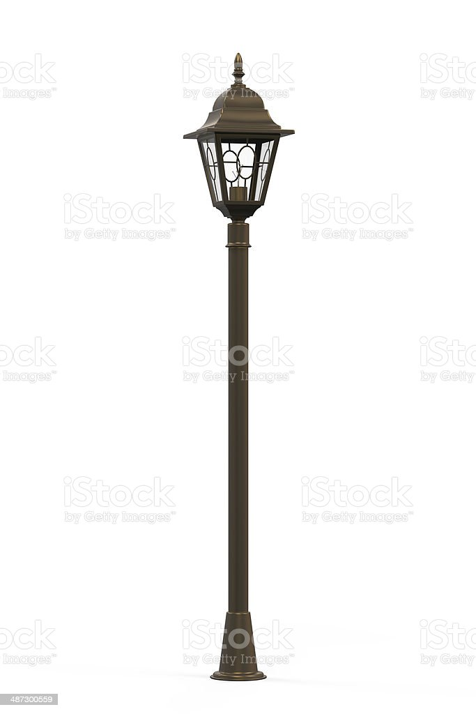 Street Lamppost Isolated stock photo