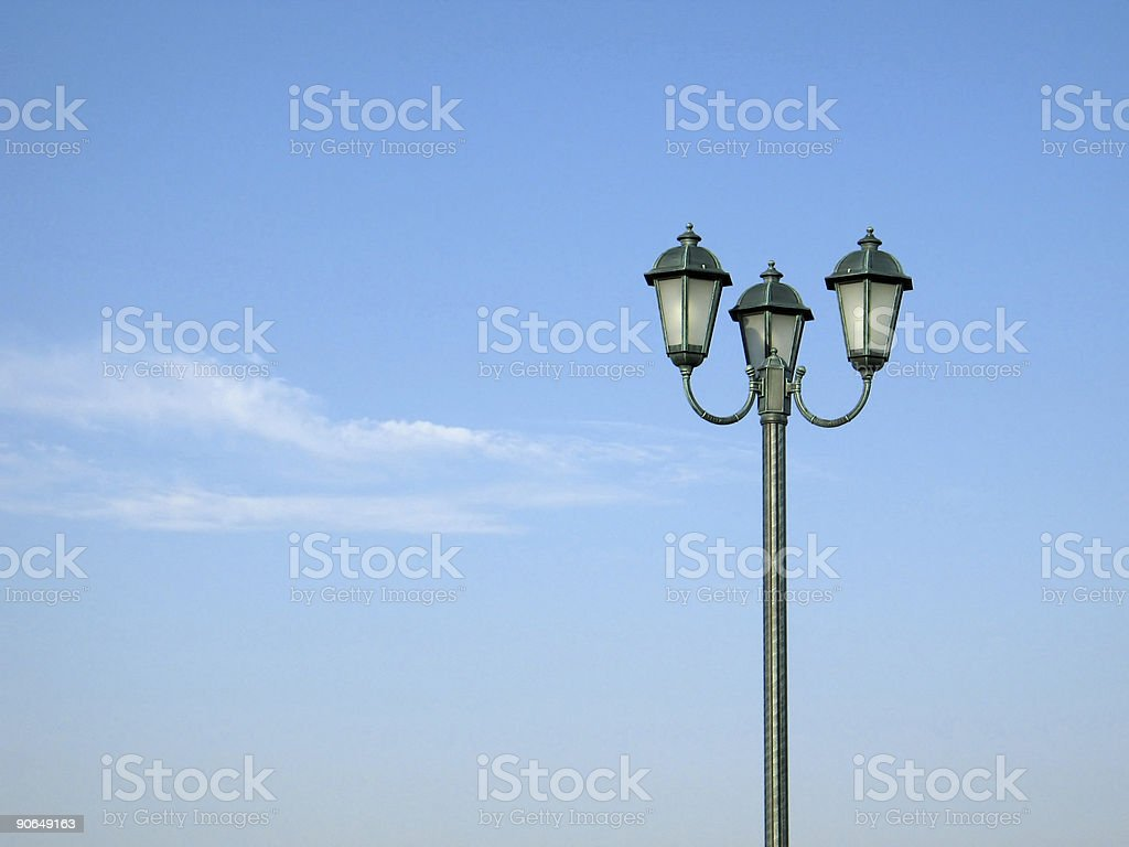 Street Lamps and the Sky royalty-free stock photo