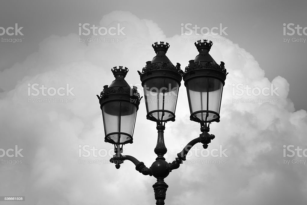 Street lamps in Paris stock photo