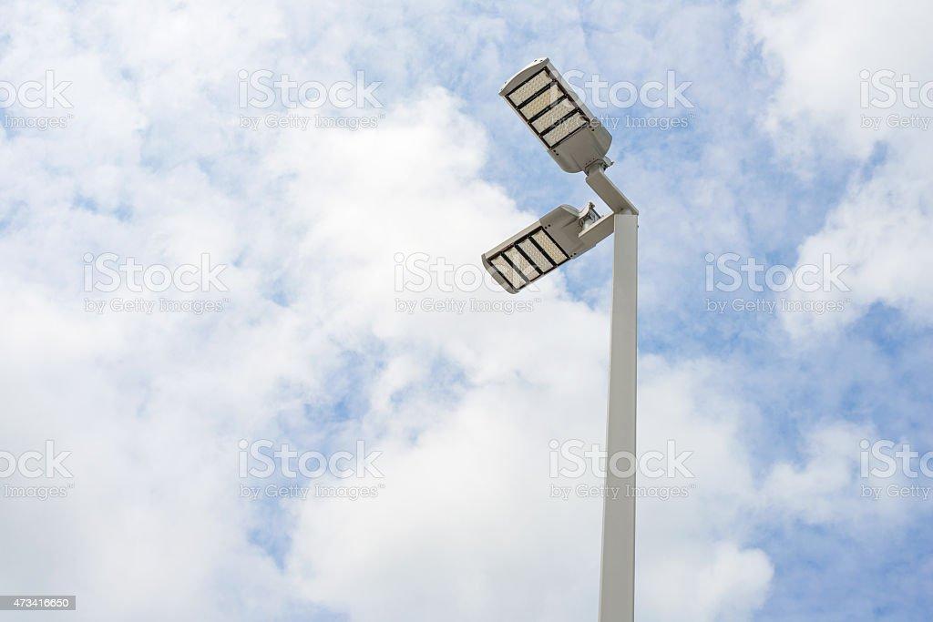 LED street lamps stock photo
