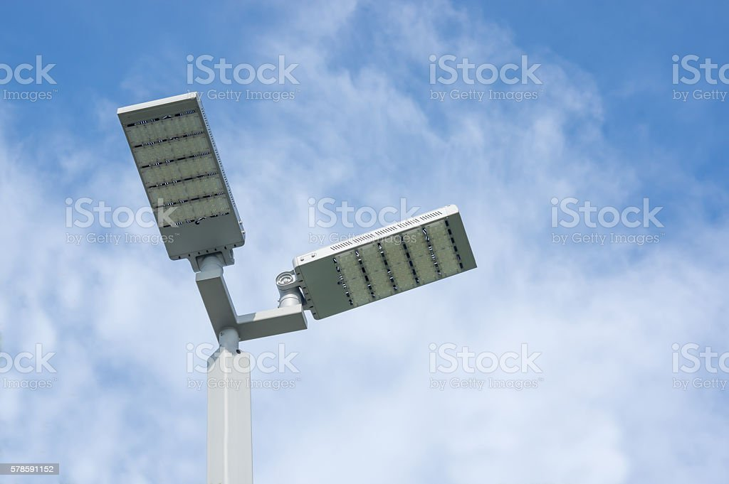 LED street lamps. stock photo