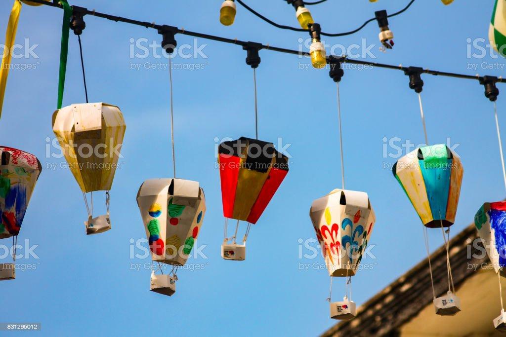 Street lanterns of Penang stock photo