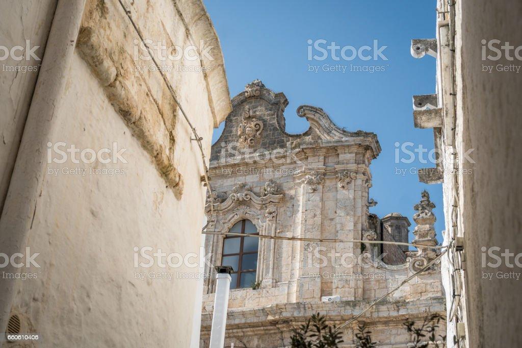 Street leading to Santa Maria Assunta cathedral, Italy stock photo