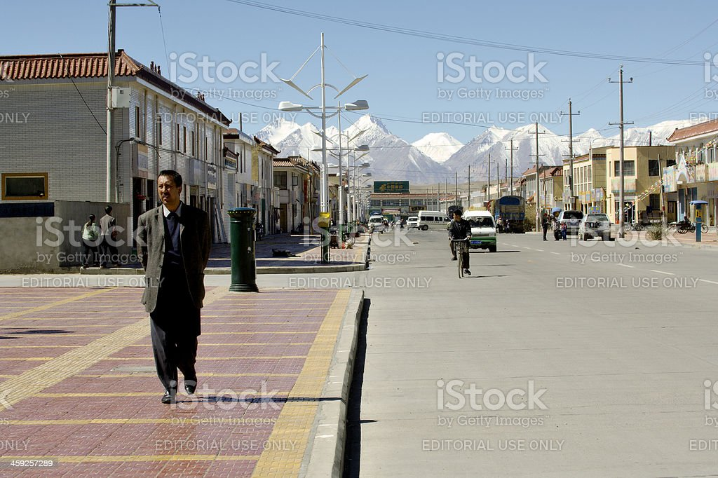 Street Life in Ali royalty-free stock photo