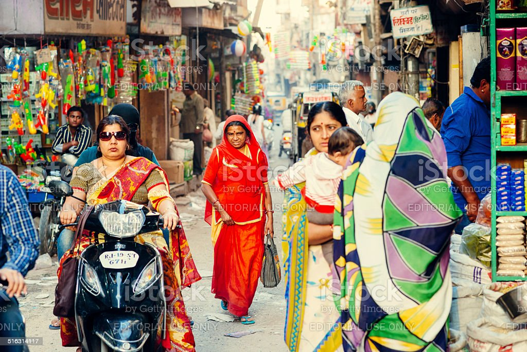 Street Life in India stock photo