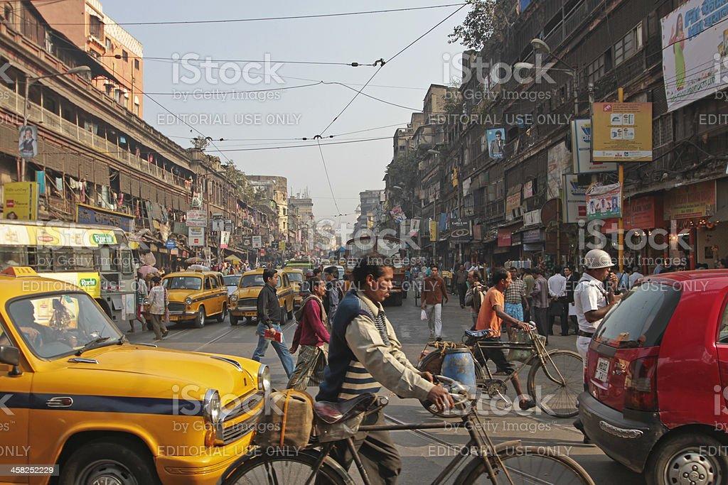 Street life in Kolkata, India stock photo