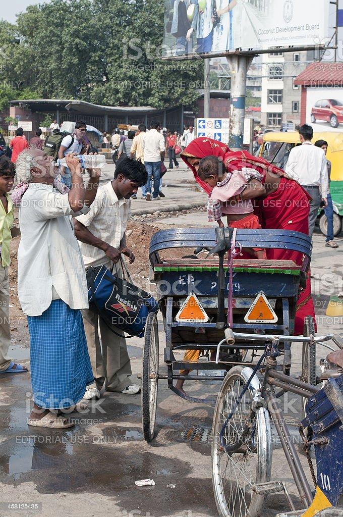 Street Life near New Delhi Railway Station royalty-free stock photo