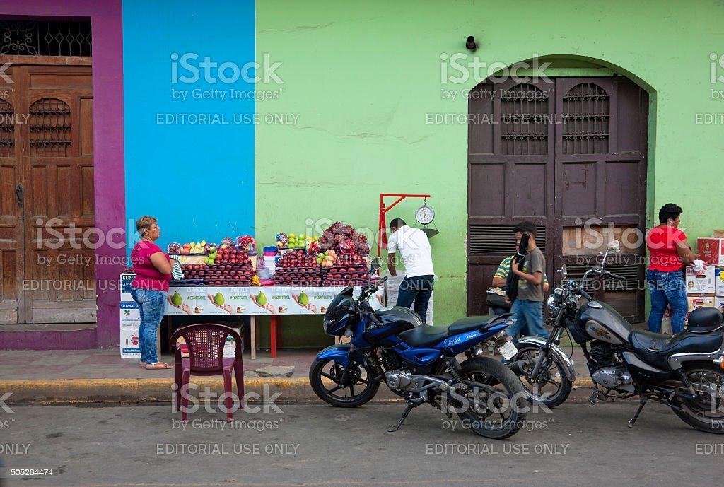 Street life of Granada, Nicaragua stock photo