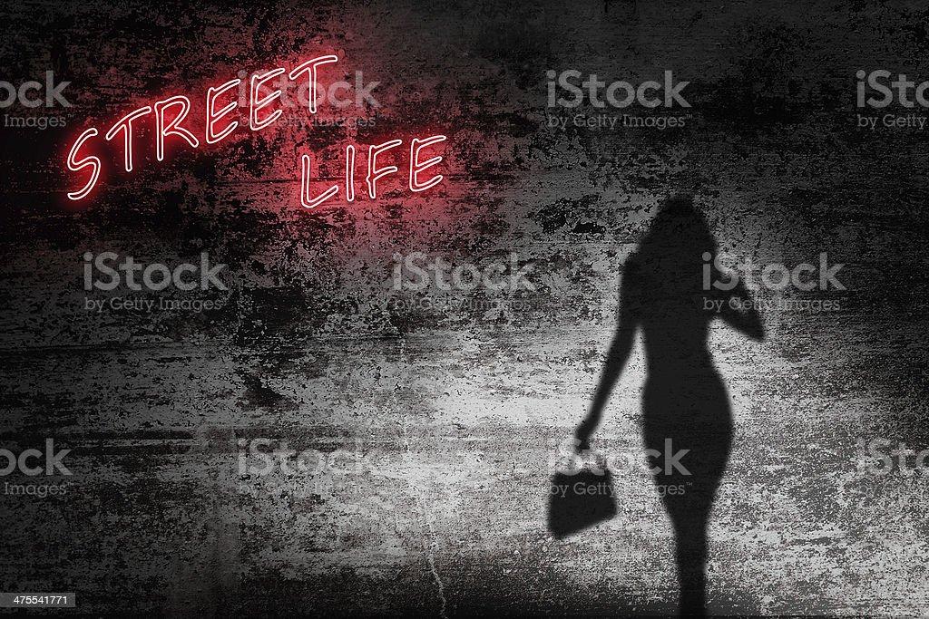 Street life prostitute royalty-free stock photo
