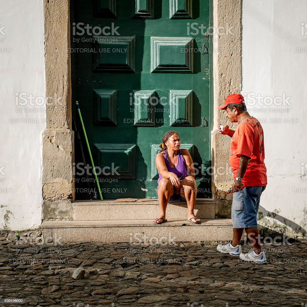 Street life, Salvador, Brazil stock photo