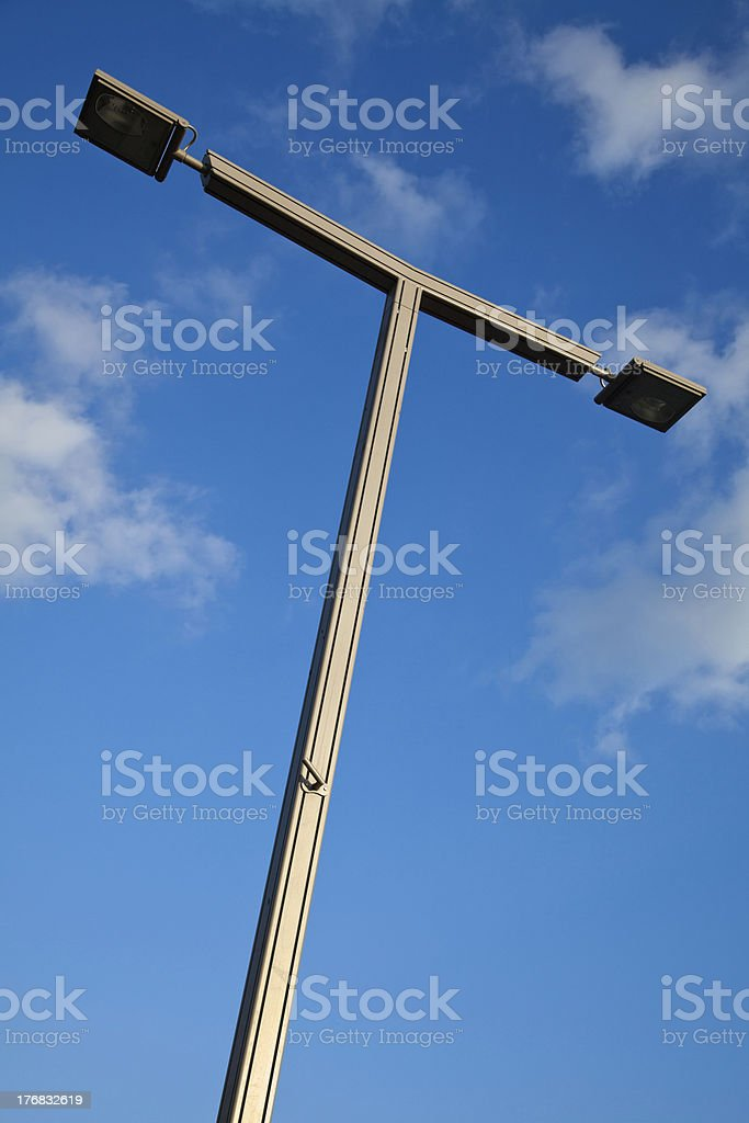 Street Light and Blue Cloudy Sky royalty-free stock photo