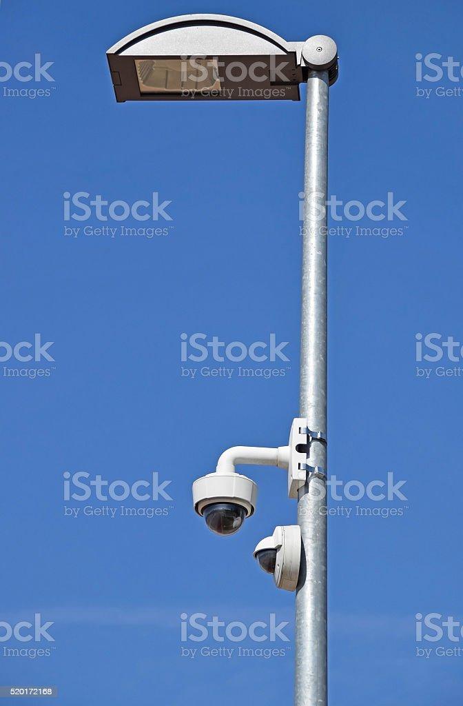 Street light and security camera stock photo
