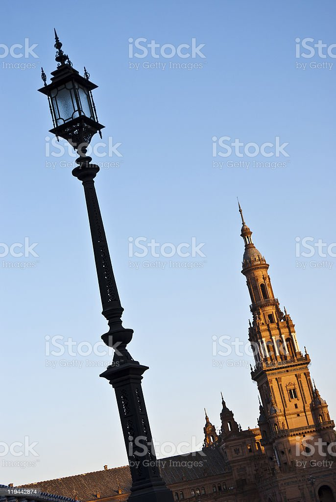 Street Light and Tower royalty-free stock photo