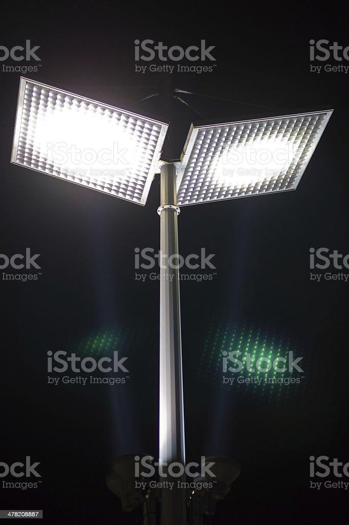 LED street light at night stock photo