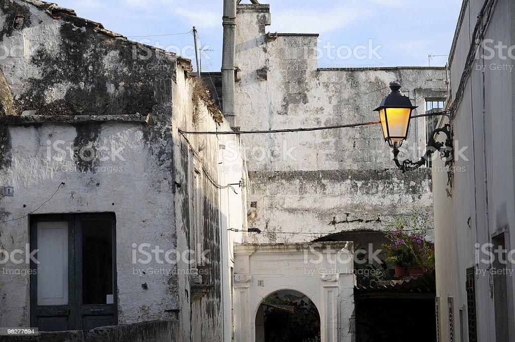 street light in a South Italian city royalty-free stock photo