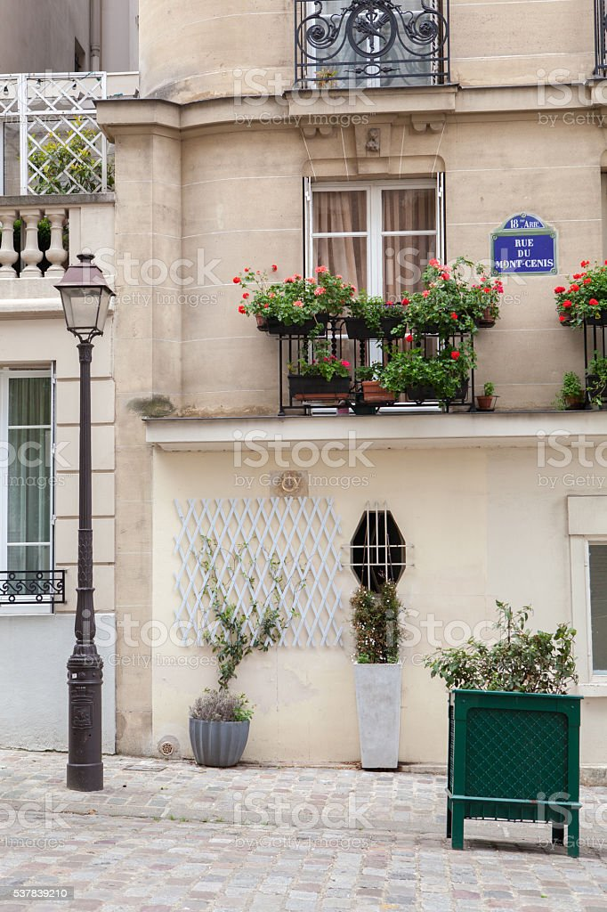 Street light in Paris, France stock photo