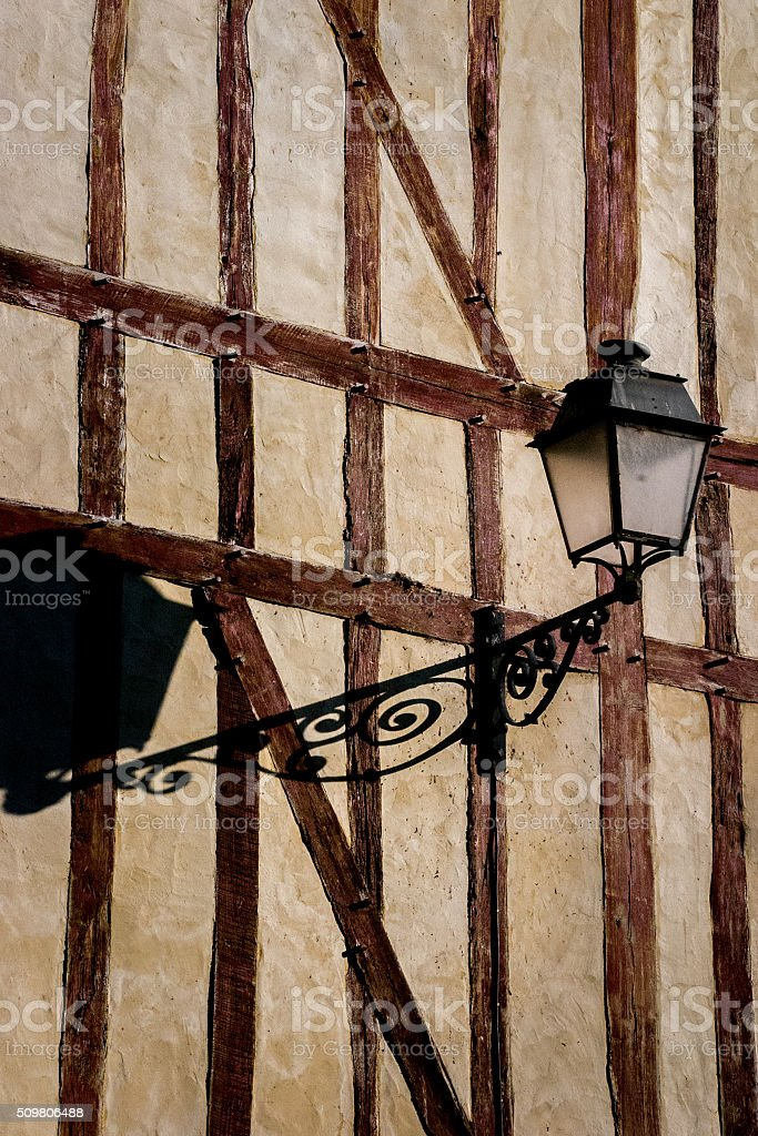 Street Light in Troyes, France stock photo