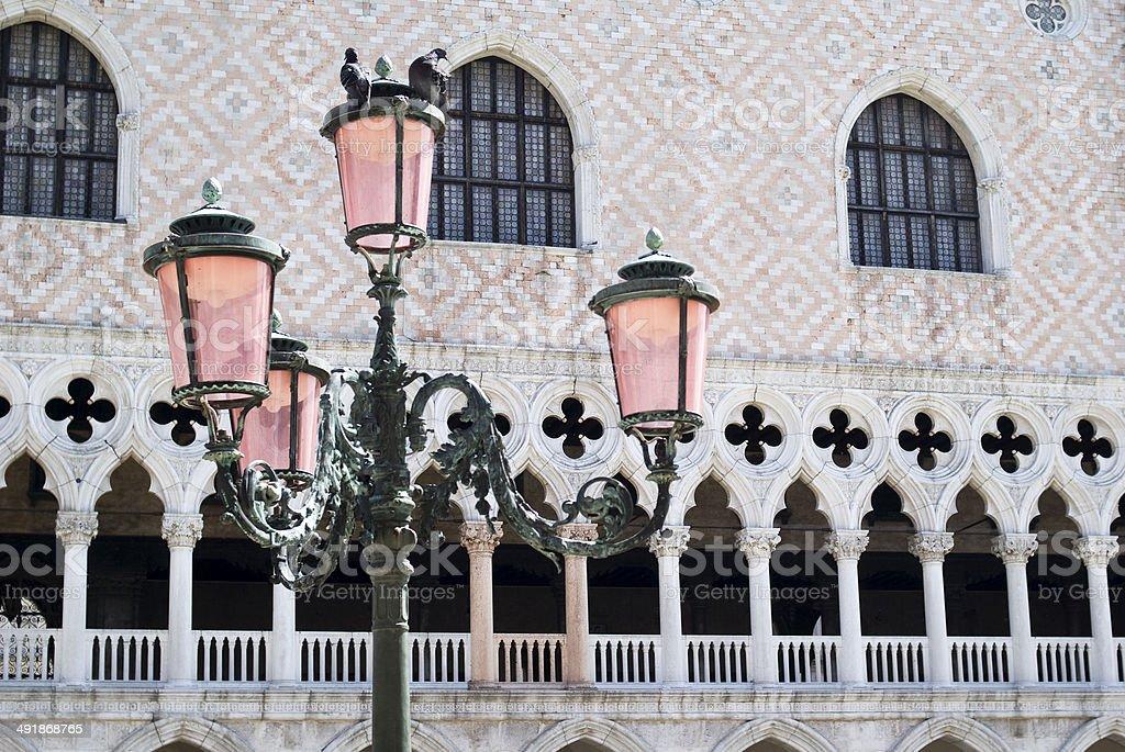 Street light in Venice stock photo