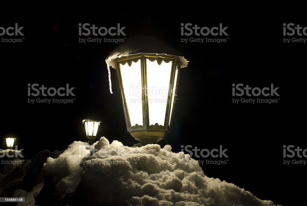 Street light long exposure in the night stock photo