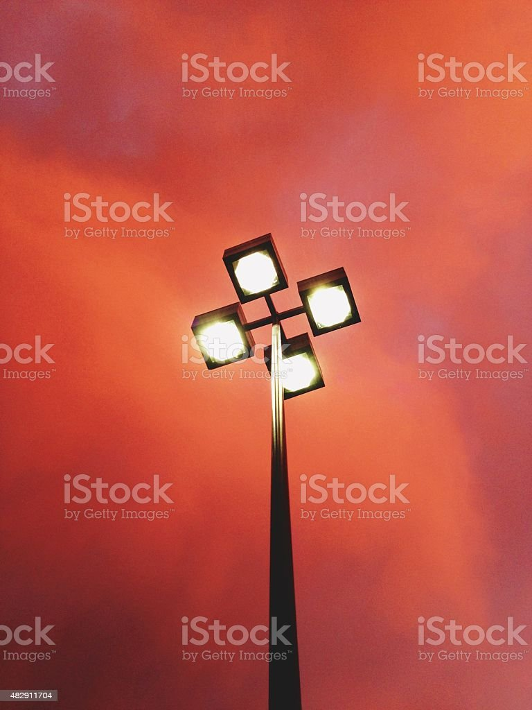 Street Light & Monsoon Sky royalty-free stock photo