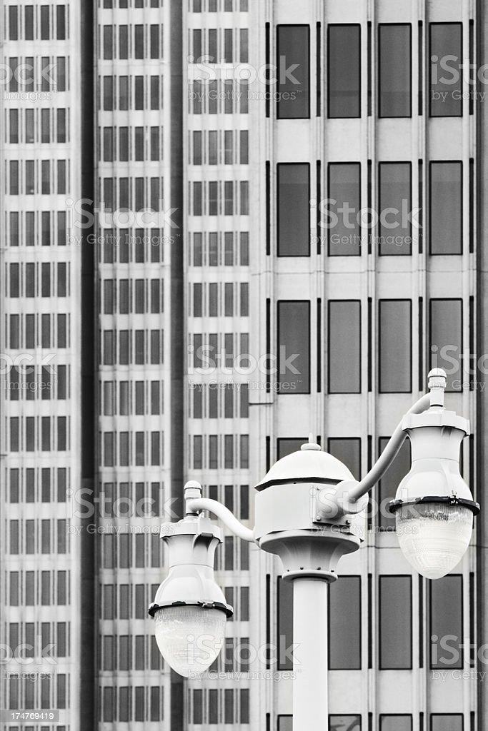 Street Light Office Building Window Facade royalty-free stock photo