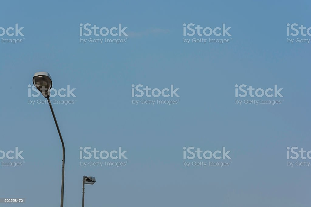 Street light on blue sky royalty-free stock photo